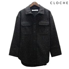 CLOCHE(クロッシェ) CPOシャツ CPOジャケット ネップ生地 CPOオーバーシャツ シャツとブルゾンの間の厚み