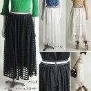 GRACECONTINENTALグレースコンチネンタルチェックメッシュスカート18春夏全2色36サイズ28221103GraceClassグレースクラス
