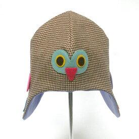 ふくろう帽子 / 54センチ ブルー / Lemon Lime Fish レモンライムフィッシュ / 子供用 キッズ 手作り 一点物 梟 動物