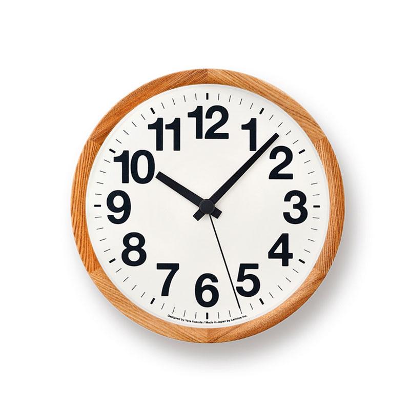 【クーポン800円あり】Clock A / ナチュラル / Lemnos レムノス 壁掛け時計 シンプル 木製 Yota Kakuda 角田陽太