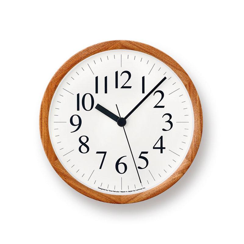 【クーポン800円あり】Clock B / ナチュラル / Lemnos レムノス 壁掛け時計 シンプル 木製 Yota Kakuda 角田陽太