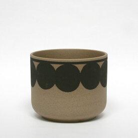 flora red dot / 鉢カバー / 波佐見焼 西山陶器 / Lisa Larson リサ・ラーソン / フローラ レッド ドットフラワーベース 花器 花瓶 オブジェ 陶器 北欧 ブラウン