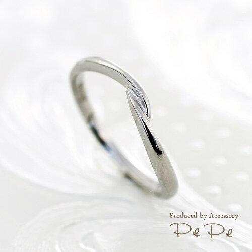 【幸せを呼ぶ小指の魔法…ピンキーリング♪】プラチナ900 地金リング(指輪サイズ:0〜6号)[6312100101]