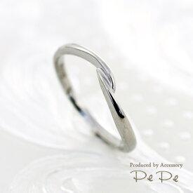 【幸せを呼ぶ小指の魔法…ピンキーリング♪】プラチナ900 地金リング(指輪サイズ:-2〜6号)[6312100101]
