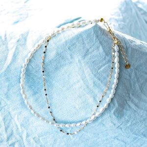 ブレスレット K10イエローゴールド 淡水パール 真鍮 (6月誕生石)(真珠)(ライスパール)(小粒)(エクレアチェーン)[0941306201]