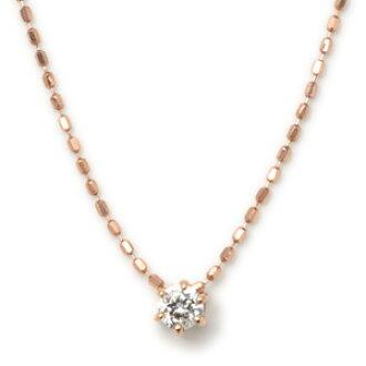 Pepe rakuten global market k10 pink simple diamond pendant necklace k10 pink simple diamond pendant necklace aloadofball Images