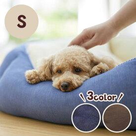 Sippole 2WAYスクエアベッド S 犬 猫 ペット ベッド デニム カジュアル 丸洗い 高品質 あごのせ もっちり ふかふか 通年 リバーシブル チワワ トイプードル PEPPY ペピイ