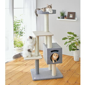 sippole トレイルタワー ステップ 高さ130cm 猫 キャットタワー シンプル カジュアル おしゃれ インテリア 多頭飼い 省スペース しっぽる PEPPY ペピイ