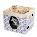 セール さわやかマリン2階建ハンモックベッド 幅46×奥行46×高さ37cm ベッド ハウス 猫 ペピイオリジナル 春夏