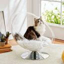 セール ネストドーム 猫 ベッド ドーム型 透明 アクリル素材 寝顔が見れる 肉球が見える クッション付き PEPPY ペピイ