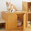キャットレストルーム トップ 幅60×奥行52×高さ45cm 猫 トイレ 爪とぎ ダンボール ペピイ 夏