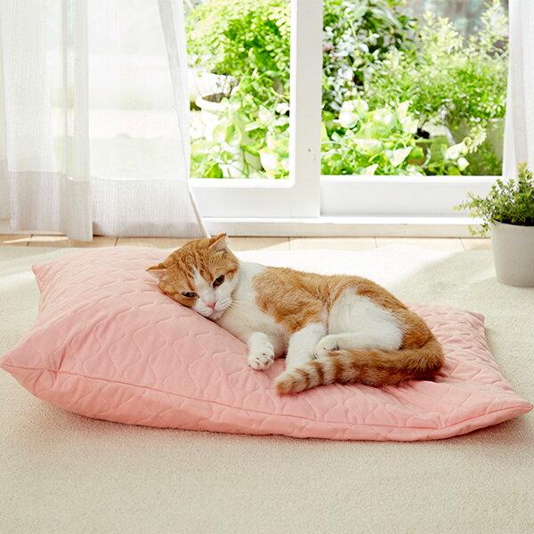 たまくら体位変換クッション 猫 介護ベッド ピンク グレー 国産 ペピイオリジナル