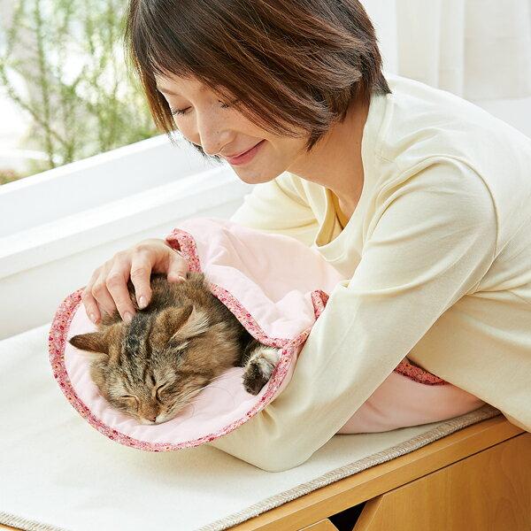 ふんわりガーゼのおくるみ 猫 国産 ピンク ベージュ 介護 介助 ペピイオリジナル 2018夏