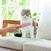 ねこじゃすりピンクグレー猫ブラシおもちゃペピイオリジナル2018春夏