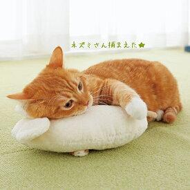 オーガニックコットン キャット ネズミ抱きまくら 猫用おもちゃ 綿 国産 オーガニック 安心 安全 ペット ペピイ PEPPY