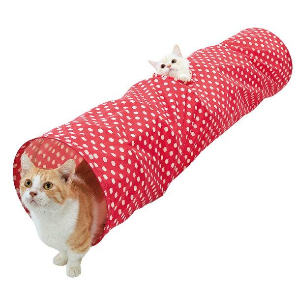 セール34%OFF ねこたま プレイトンネル レッド おもちゃ 猫 ペピイオリジナル 2018夏