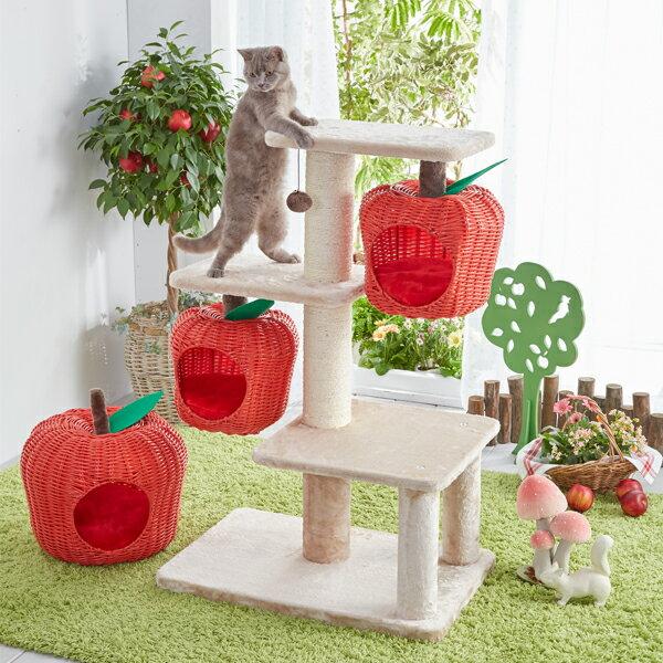 幸せのりんごタワー キャットタワー 猫 ペピイオリジナル 2018春夏