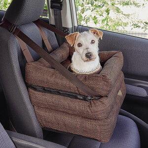 ソファボックス ブラウン 新色 犬 小型犬 ドライブ カーシート カーボックス ドライブボックス ドライブベッド 窓 助手席 安全 ペット PEPPY ペピイ