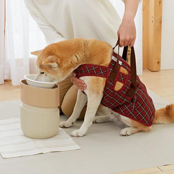 ルルパスタンド M 径17×高さ22〜24.5cm 食器台 スタンド 犬 猫 ペット ペピイオリジナル