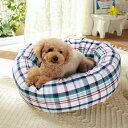 さわやかマリンベーグルベッド専用替えカバー S マルチ チェック 犬 猫 綿 コットン ペット PEPPY ペピイオリジナル