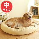 ラウンドベッド中(径75×高さ12cm)【クッション 丸型 小型犬 中型犬 大型犬 犬 猫 ペット】PEPPY(ペピイ)