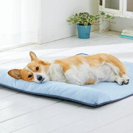 ソフトクールマット 枕付き L 100×80cm ベッド 夏用 ひんやり 涼感加工 クール 防水 ペピイオリジナル 夏