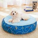 【セール29%OFF】涼眠ラウンドベッドM(径63×高さ20cm)【クッション 夏用 小型犬 中型犬 猫 リバーシブル 涼感 クール】PEPPY(ペピイ)
