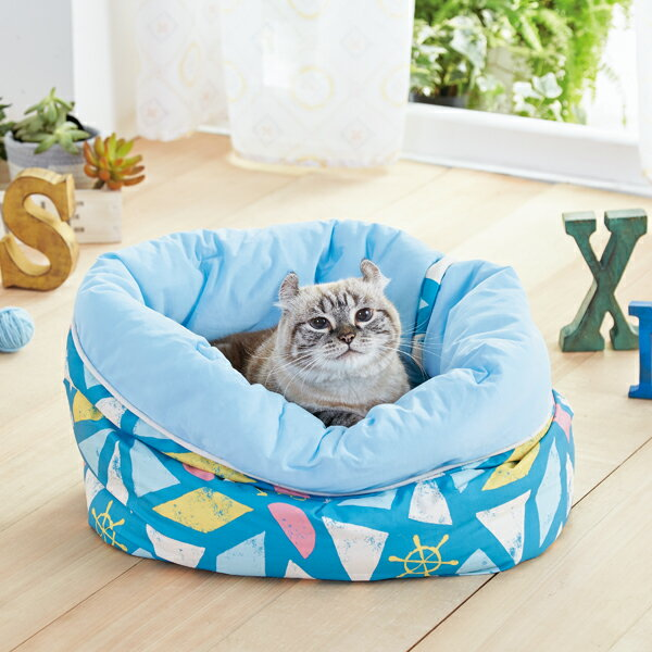 涼眠カドルベッド SS 幅45×奥行35×高さ40cm カラフル ベージュ ターコイズ ブルー 犬 猫 ペピイオリジナル 2018春夏