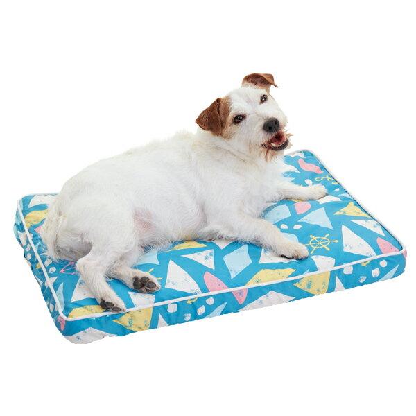 涼眠スクエアマット S 幅60×奥行40×高さ5cm カラフル ベージュ ターコイズ ブルー 犬 猫 ペピイオリジナル 2018春夏