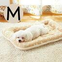オーガニックコットン2層マット M 犬 猫 マット ベッド 丸洗い ふかふか かわいい ピンク ベージュ 国産 安全 あご乗…