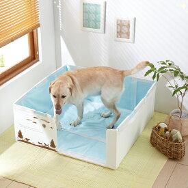 やわらかプラダントイレ 60cm角 トイレトレー 室内トイレ 大型犬 国産 囲い 足上げ ゴールデンレトリバー 介護 老犬 シニア ペピイオリジナル