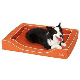 抗菌防臭スマートスクエアベッド コットン L 幅116×奥行86×高さ15cm ブラウン オレンジ グリーン 小型犬 中型犬 大型犬 はっ水 犬 シニア 高齢犬 撥水 ペット PEPPY ペピイ