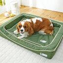 抗菌防臭スマートスクエアベッド コットン S 幅70×奥行50×高さ13cm ブラウン オレンジ グリーン 小型犬 中型犬 大型…
