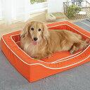 抗菌防臭スマートスクエアベッド コットン M 幅96×奥行76×高さ14cm ブラウン オレンジ グリーン 小型犬 中型犬 大型犬 はっ水 犬 シニア 高齢犬 撥水 ペット PEPPY ペピイ