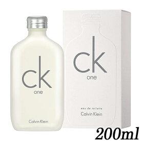 送料無料 CK カルバンクライン CK ONE シーケーワン オードトワレ EDT SP 200ml[7438/5021/1798] CK1 CK-one CALVIN KLEIN
