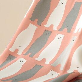 【最短6営業日で出荷】【代引き不可】【ドレープカーテン】キッズ 〜シロクマ〜 ピンク[アニマル][子供部屋][非遮光][1cm刻みでオーダー可能][スタンダード対応商品]