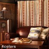【最短・翌日出荷】【ドレープカーテン】メンズネイティブアメリカンオルテガ〜リコルド〜[オーダー][メンズ特集][男前インテリア][天然繊維]