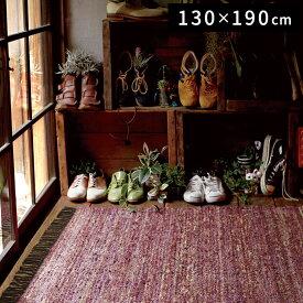【送料無料】【最短・翌日出荷】【代引き不可】【ラグ】〜リュエル〜 ピンク[130×190cm][ピンク][床暖房対応][ホットカーペット対応][インド]