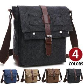 Perfectbag メッセンジャーバッグ ショルダーバッグ 上質キャンバス 帆布 ズック メンズ 斜めがけ ipad収納 通学 通勤鞄 自転車かばん