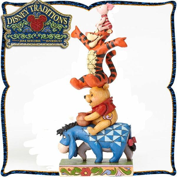 ディズニー 木彫り調フィギュア くまのプーさん 「イーヨー&プー&ディガー&ピグレット」 ディズニー・トラディション 新生活 プレゼント