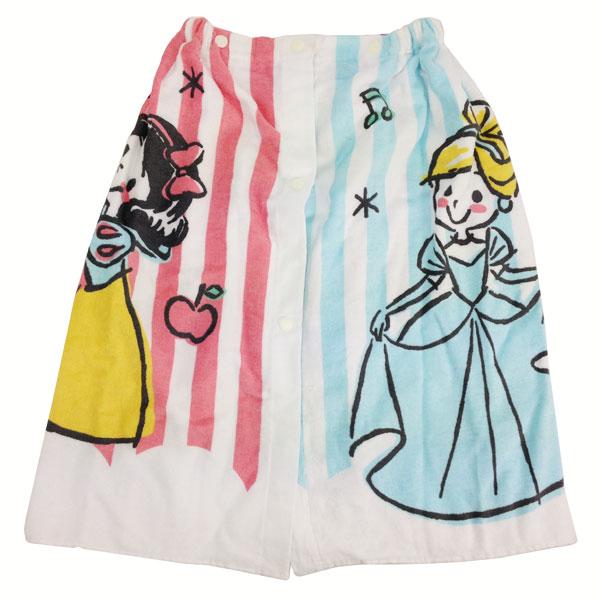 ディズニープリンセス ラップタオル 巻きタオル 着替えタオル ディズニー ベビー用品 新生活 プレゼント