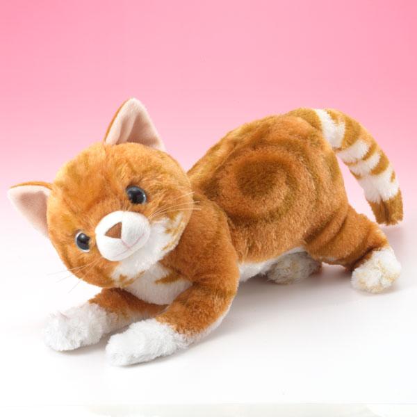 ぬいぐるみ (動くおもちゃ・音声) おひざのうえで・なでなでねこちゃんデラックス とらちゃん (猫・ねこ・ネコ)