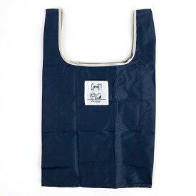 スヌーピー エコバッグ(抗菌)M NV テーブル 折りたたみバッグ コンパクトバッグ 買い物袋 ネイビー 日本 (MCOR)