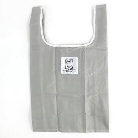 スヌーピー エコバッグ(抗菌)M GY テーブル スヌーピー 折りたたみバッグ コンパクトバッグ 買い物袋 グレイ 日本