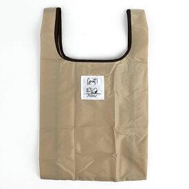 スヌーピー エコバッグ(抗菌)M BE テーブル 折りたたみバッグ コンパクトバッグ 買い物袋 ベージュ 日本 (MCOR)