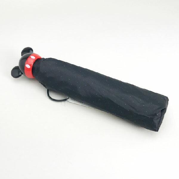 ミッキーマウス アイコンハンドル折畳傘 折りたたみ傘 かさ 50cm ブラック ディズニー 雨具 新生活 プレゼント