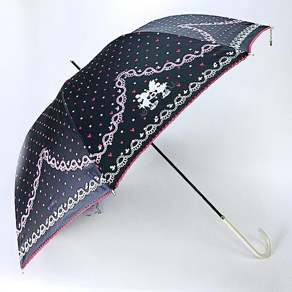 ミッキーマウス & ミニーマウス 大人生地傘 (傘/かさ) 60cm ディズニー 雨具 新生活 プレゼント