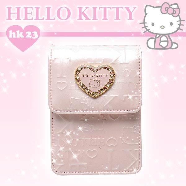 ハローキティ リップケース 「キティ型押しハートメタル」 ピンク 取寄品 3週間前後 新生活 プレゼント