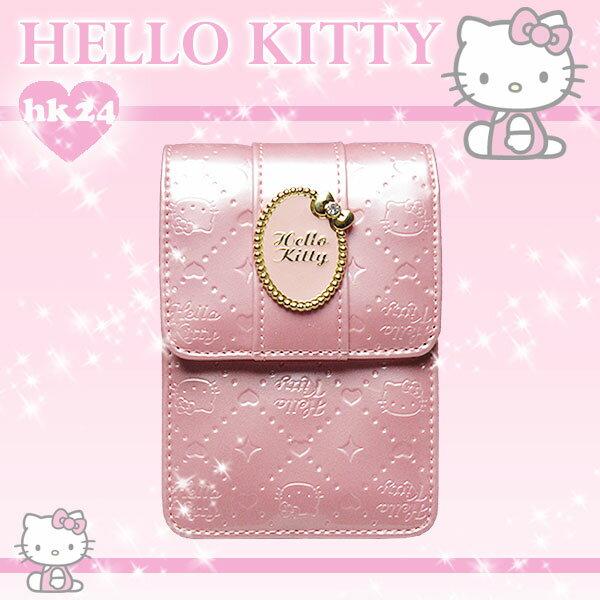 ハローキティ リップケース 「キティ型押し楕円リボンメタル」 ピンク 取寄品 3週間前後 新生活 プレゼント