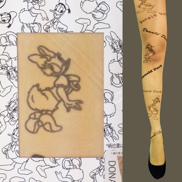 コスプレ ディズニー コスチューム 衣装 タトゥータイツ ストッキング ドナルド&デイジー ドナルドダック デイジーダック 新生活 プレゼント
